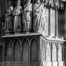 Joan Carroll - Tarragona Spain Cathedral Statues BW