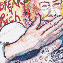 Susan Brown    Slizys art signature name - Tax Breaks for the rich and Hand ,Foot and Mouth disease
