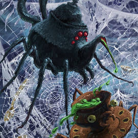 Tea Set Monster Spiders fantasy by Martin Davey
