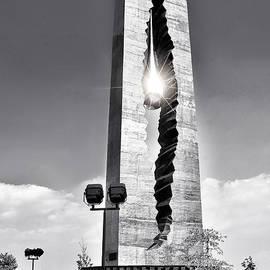 Regina Geoghan - Tear Drop 9-11 Memorial Black and White