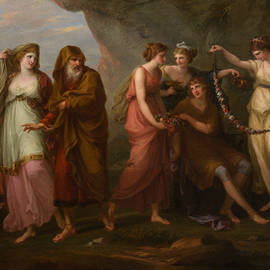 Telemachus and the Nymphs of Calypso - Angelica Kauffman