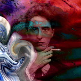Abstract Angel Artist Stephen K - Tempest of a Poet, Jean Cocteau