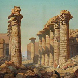Temple ruins of Karnak - Charles Vacher