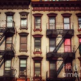 Tenements with Pink Curtains by Miriam Danar