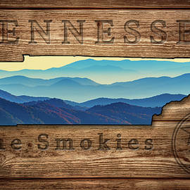 Tennessee The Smokies State Map - Rick Berk