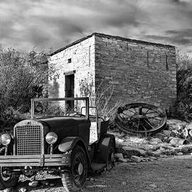 Terlingua Ghost Town 1 Black and White by Judy Vincent