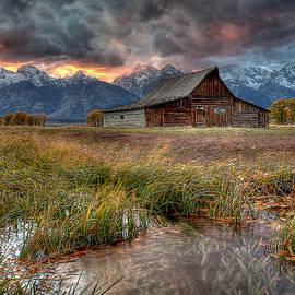 Teton Nightfire At The Ta Moulton Barn by Ryan Smith