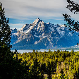 Teton Peak From Signal Mountain by TL  Mair