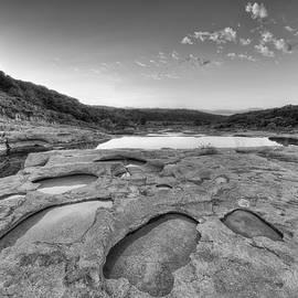 Rob Greebon - Texas Hill Country Sunrise Black and White 1014-1