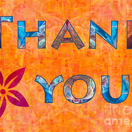 Omaste Witkowski - Thank you Flower Abstract Greeting Card Artwork by Omaste Witkow