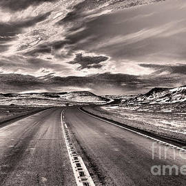 that long Lonely Road black and white by Jeff Swan
