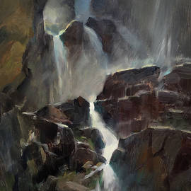 Anna Rose Bain - The Base of Timberline Falls