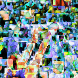 Wingsdomain Art and Photography - The Basketball Jump Shot in Abstract Cubism 20170328