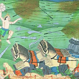 The Battle of Lanka, between Rama and Ravana, King of the Rakshasas, from the Ramayana - Rajasthani School