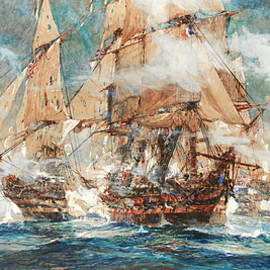 Charles Edward Dixon - The Battle of Trafalgar