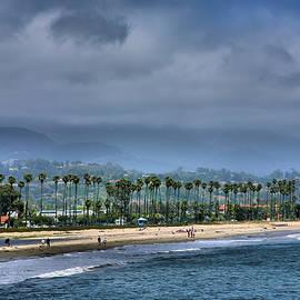The Beach At Santa Barbara by Steven Ainsworth