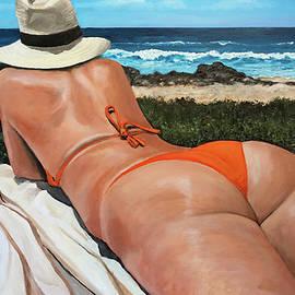 Deb on the Beach at Talum by Alan Lakin
