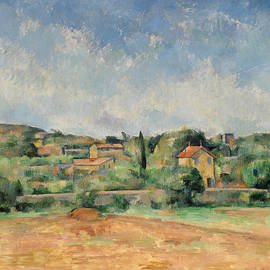 The Bellevue Plain, also called The Red Earth - Paul Cezanne