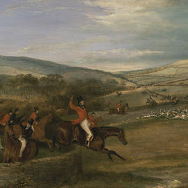 The Berkeley Hunt, 1842 - Full Cry - Francis Calcraft Turner