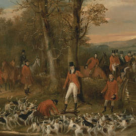 The Berkeley Hunt, 1842 - The Death - Francis Calcraft Turner