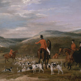 The Berkeley Hunt, 1842 - The Meet - Francis Calcraft Turner