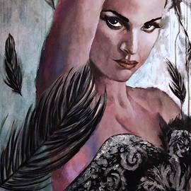 Jevie Stegner - Beast Inside, Black Swan Painting