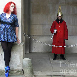 The Blue Ballet Shoes Hide From The Queen's Guard by Toula Mavridou-Messer