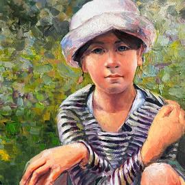 The Blue-eyed Little Girl by Vali Irina Ciobanu