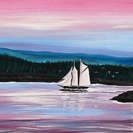 Patricia L Davidson  - The Blue Nose II at Baddeck Nova Scotia