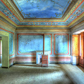 THE BLUE ROOM of THE VILLA WITH THE COLORED ROOMS by Enrico Pelos