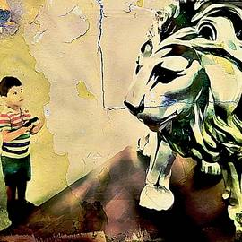 Jean Francois Gil - The Boy and the Lion Graffiti Creator,Street-art Graffiti,Street-art,graffiti art street,banksy art,