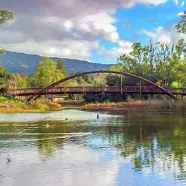 Randy Herring - The Bridge at Vasona Lake Digital Art
