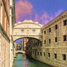 The Bridge of Sighs Venice by Dominic Piperata