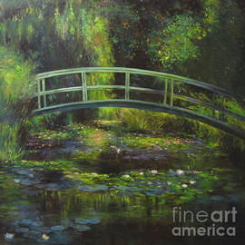 The Bridge Over the Waterlily Pond by Farideh Haghshenas