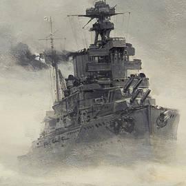 Montague Dawson - The British Fleet - detail