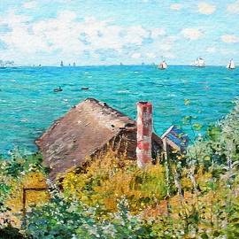 The Cabin At Saint-adresse  by Claude Monet