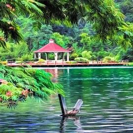 The Canoe Ride - Lake Lure by Chrystyne Novack