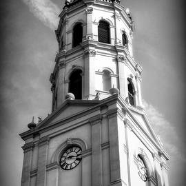 Carol R Montoya - The Cathedral Basilica of St. Augustine Florida Black And White