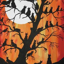 35 Cats On Night Watch by Jeffrey Koss