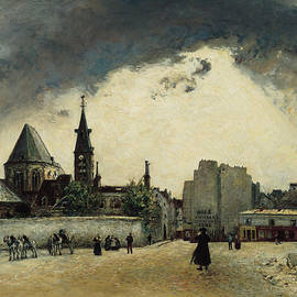 The Church of St. - Medard on the Rue Mouffetard  - Johan Jongkind