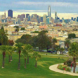 The City From Dolores Park by Bonnie Follett