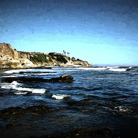 Judy Vincent - The Cliffs of Pismo Beach Painting