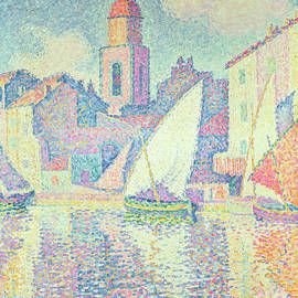 The Clocktower at St Tropez, 1896  - Paul Signac