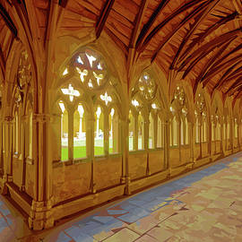 The Cloisters, Lincoln Cathedral - 2 by Brian Shaw