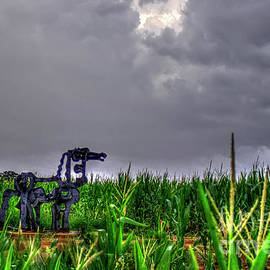 Reid Callaway - The Corn Is Up The Iron Horse Collection Art