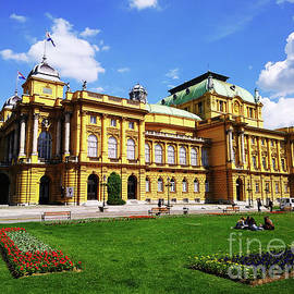 The Croatian National Theater In Zagreb, Croatia by Jasna Dragun