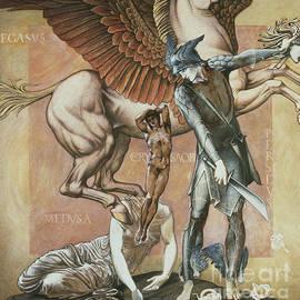 Edward Coley Burne-Jones - The Death of Medusa I