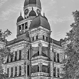 JC Findley - The Denton County Courthouse Black and White