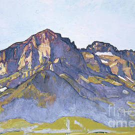 The Dents Blanches at Champery in the Morning Sun, 1916 - Ferdinand Hodler
