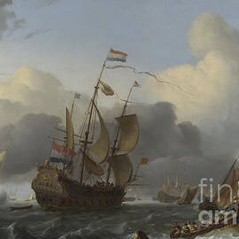 The Eendracht and a Fleet of Dutch Men of war - Ludolf Backhuysen